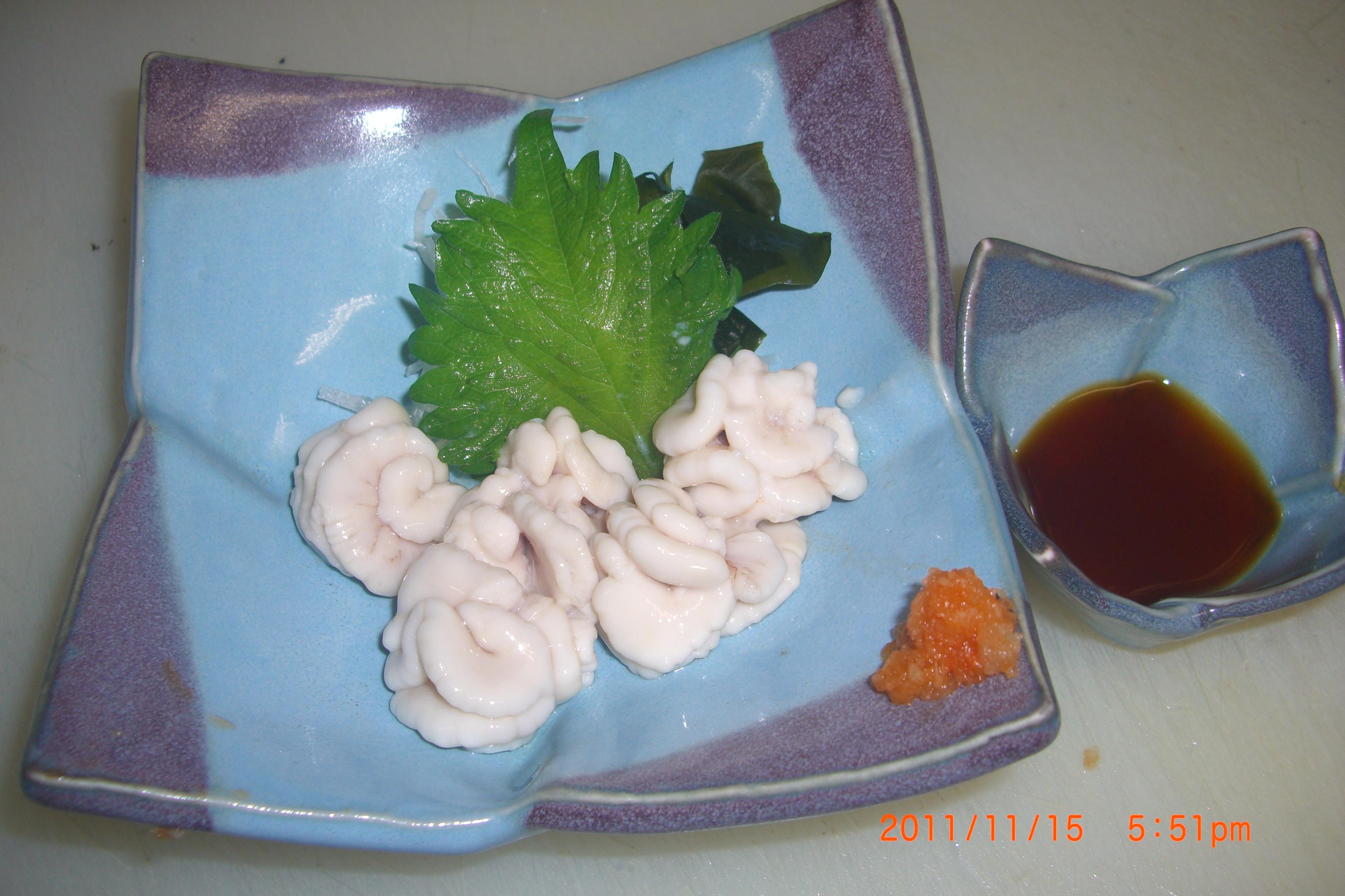 白子天ぷら-ポン酢
